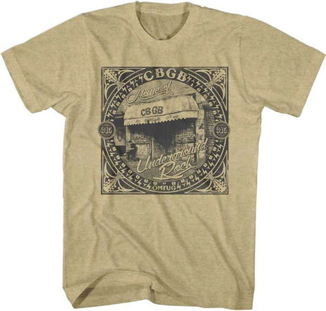 CBGB-Underground Rock Khaki Heather T-shirt