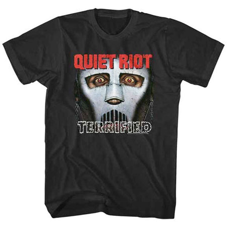 Quiet Riot-Terrified Black Lightweight t-shirt
