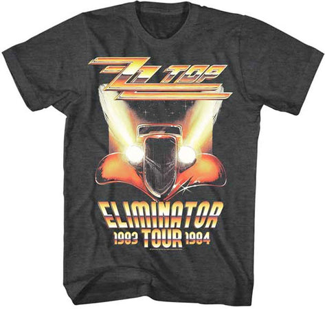 ZZ Top Eliminator Tour-Black Heather Lightweight t-shirt
