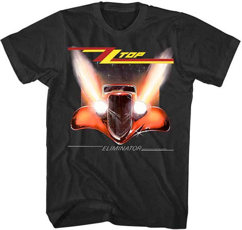 ZZ Top Eliminator Album Cover Black Lightweight t-shirt