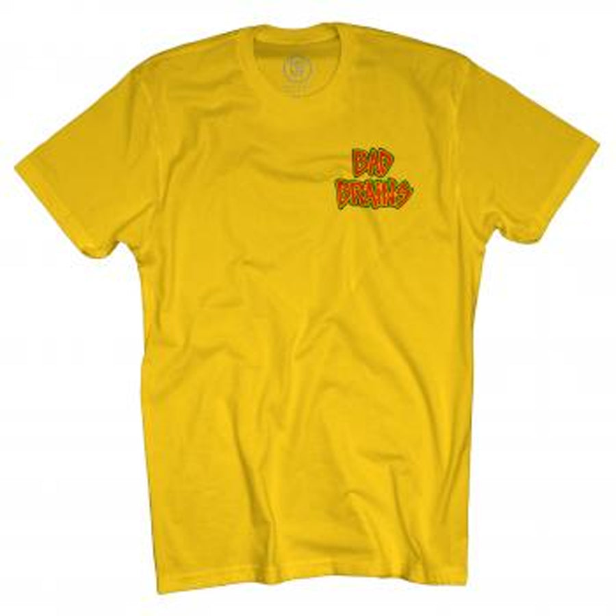 Bad Brains Front Logo-Yellow T-shirt