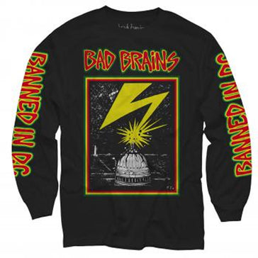 Bad Brains - Longsleeve Capitol - Black t-shirt