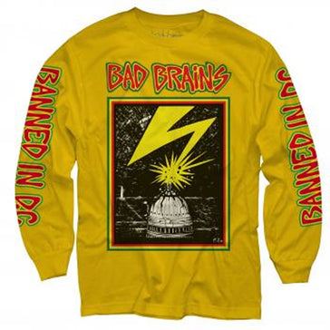 Bad Brains - Capitol - Longsleeve Yellow T-shirt