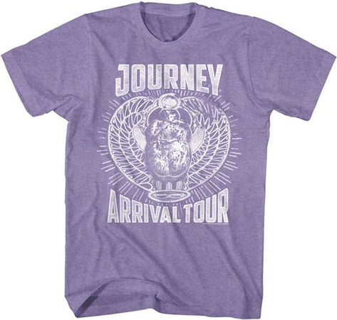 Journey-Monochrome Arrival Tour-Retro Purple Heather t-shirt