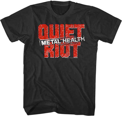 Quiet Riot-Logo Black Lightweight t-shirt