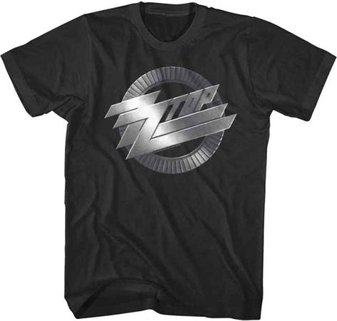ZZ Top Metal Logo Black Lightweight t-shirt