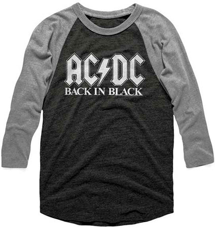 AC/DC Back In Black Raglan Baseball Jersey t-shirt