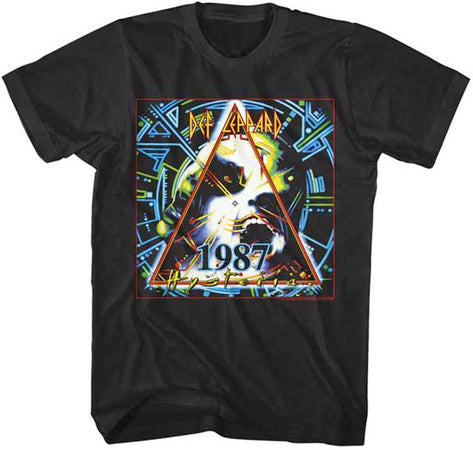 Def Leppard- 1987 World Tour-Black t-shirt
