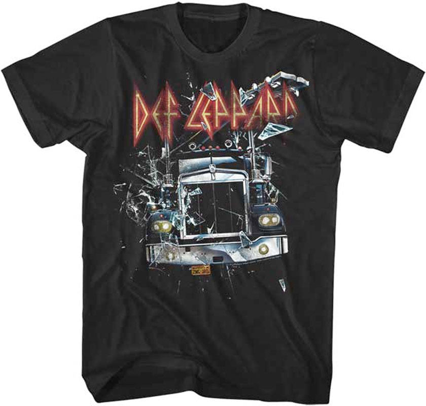 Def Leppard- On Through The Glass-Black t-shirt