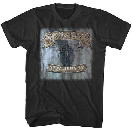 Bon Jovi-New Jersey-Black t-shirt