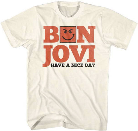 Bon Jovi-Have A Nice Day-Natural t-shirt