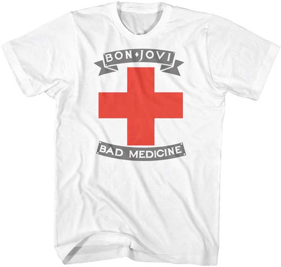 Bon Jovi-Bad Medicine-White t-shirt