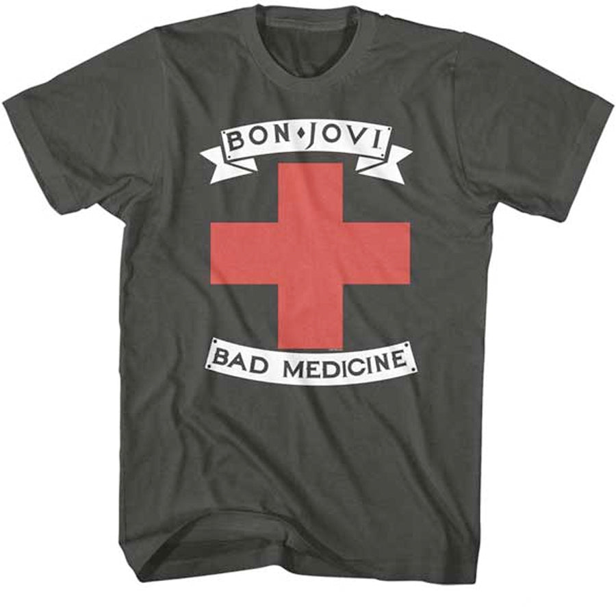 Bon Jovi-Bad Medicine-Smoke t-shirt