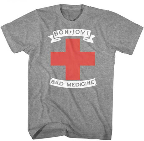 Bon Jovi-Bad Medicine-Graphite Heather t-shirt