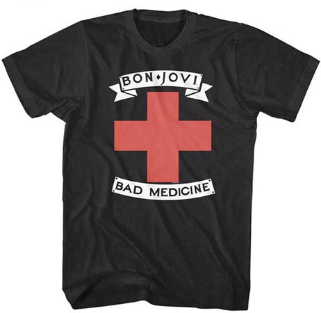 Bon Jovi-Bad Medicine-Black t-shirt