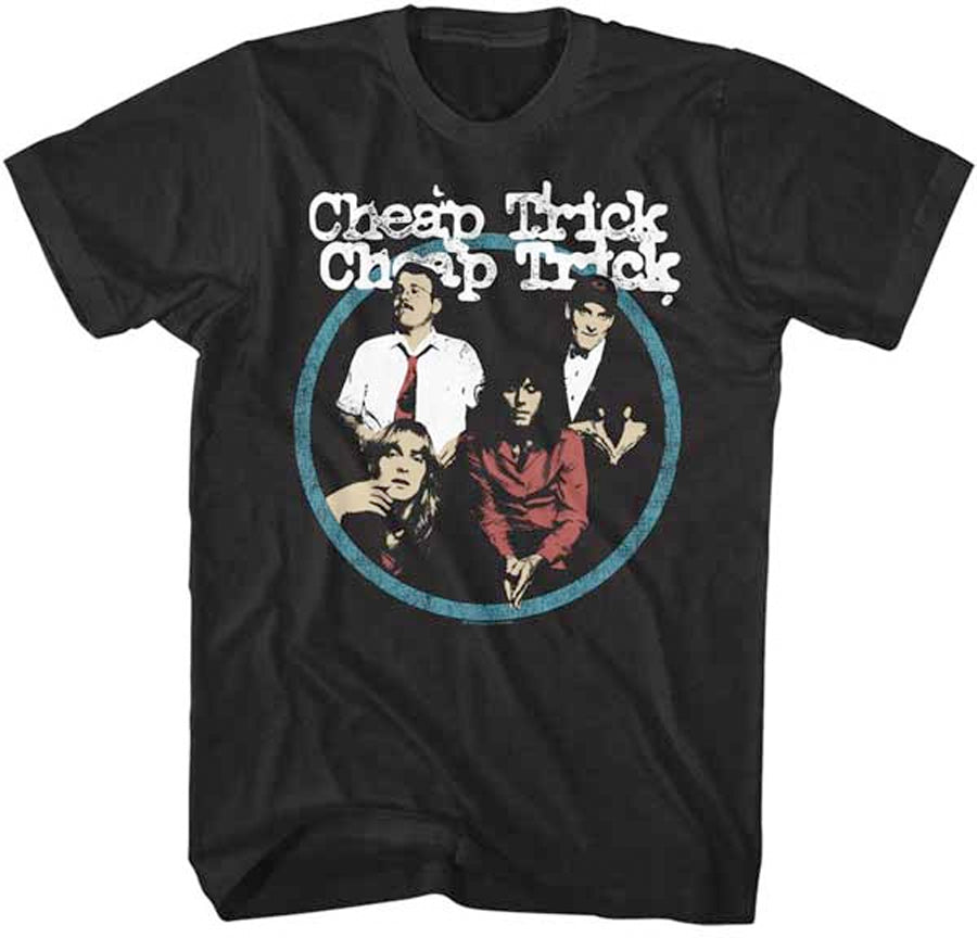 Cheap Trick-Band Circle-Black t-shirt