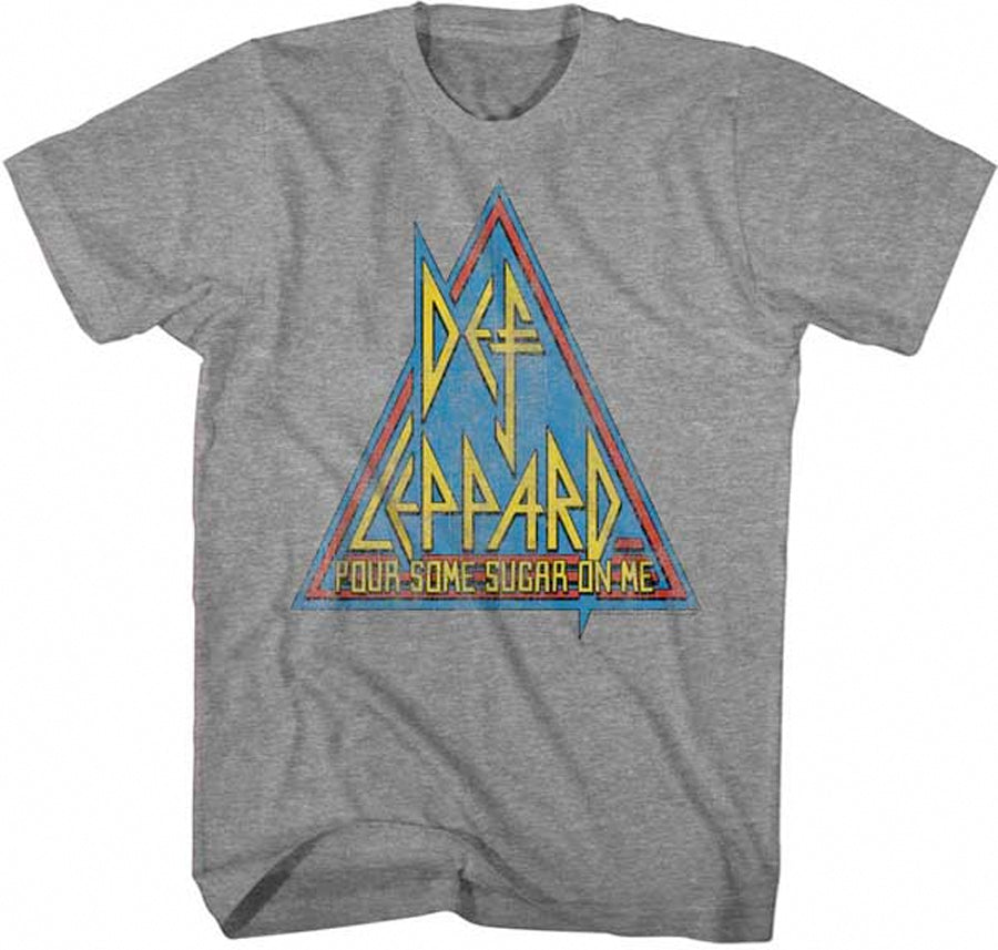 Def Leppard-Primary Triangle-Graphite Heather t-shirt