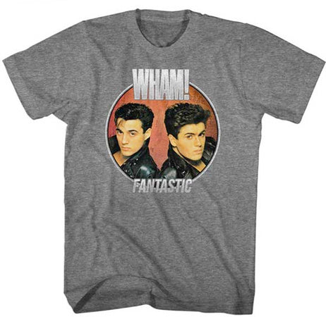 Wham-Fantastic Circle-Graphite Heather  t-shirt
