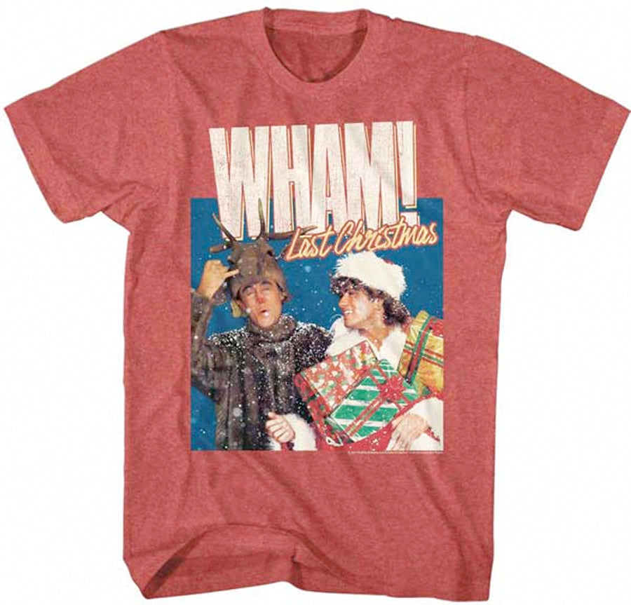 Wham-Last Christmas-Red Heather  t-shirt