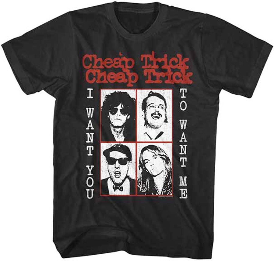 Cheap Trick-Want You-Black t-shirt