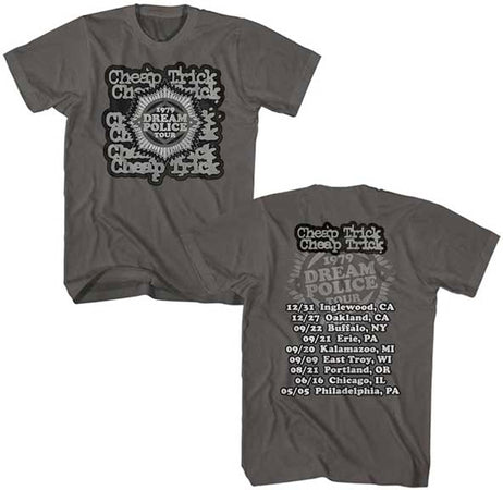 Cheap Trick-Dream Police Tour-Smoke t-shirt