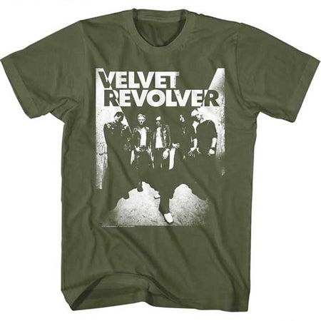 Velvet Revolver-Band-Military Green t-shirt
