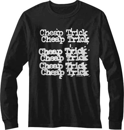 Cheap Trick-Repeat Logo-Longsleeve Black t-shirt