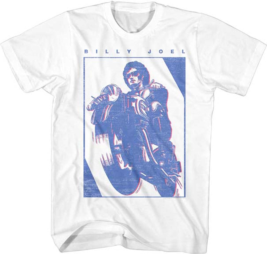 Billy Joel - Motorcycle - White t-shirt