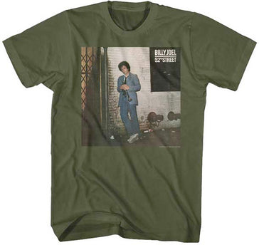 Billy Joel - 52nd Street - Military Green t-shirt