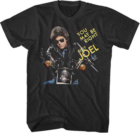 Billy Joel - You Might Be Right - Black t-shirt
