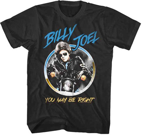 Billy Joel - You Might Be Right-Circle Pic - Black t-shirt