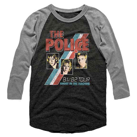 The Police - Ghost In The Machine 81-82 Tour - Raglan Baseball Jersey t-shirt