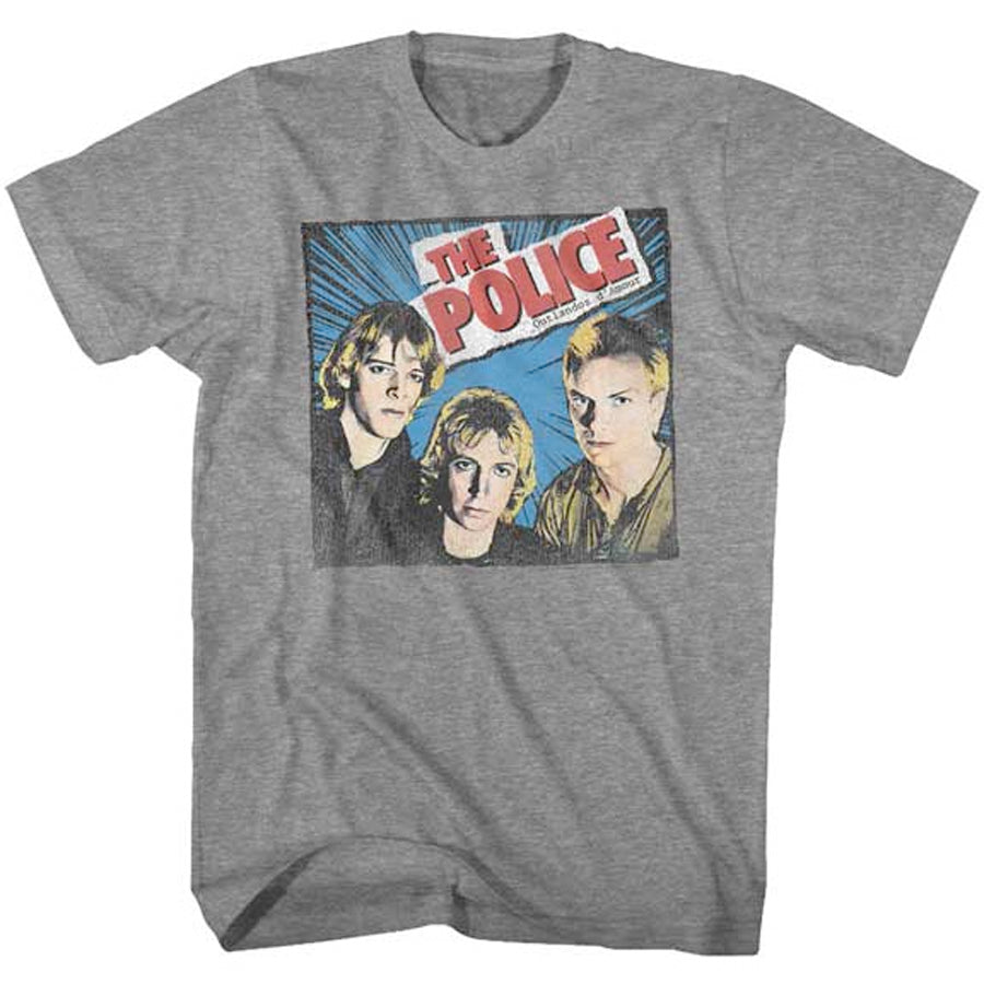 The Police - Comic-Ish Group - Graphite Heather t-shirt