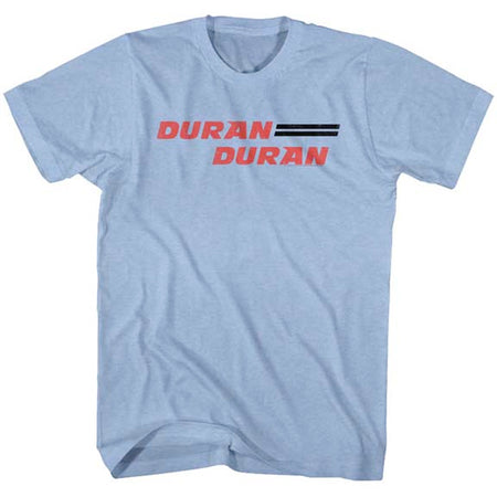 Duran Duran-Logo - Light Blue Heather t-shirt