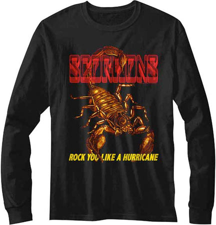 Scorpions - Rock You Like A Hurricane - Longsleeve  Black t-shirt