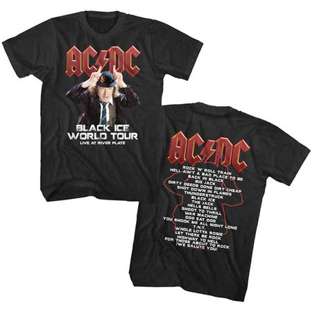 AC/DC - Black Ice World Tour - Black  t-shirt