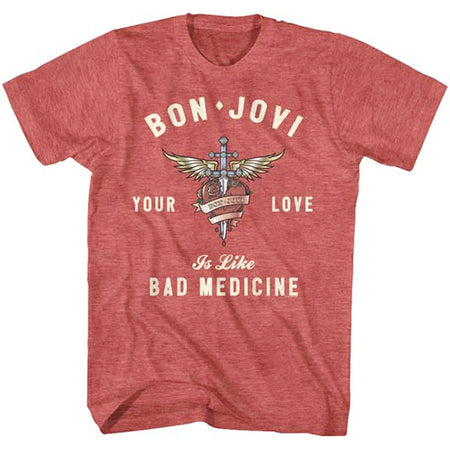 Bon Jovi - Heart and Dagger - Red Heather t-shirt