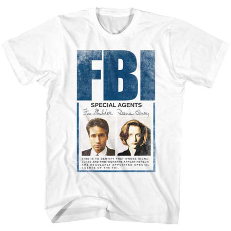 The X-Files - Special Agents - White  t-shirt