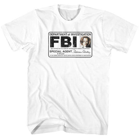 The X-Files - Scully Badge - White t-shirt