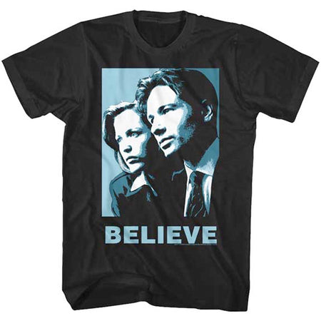 The X-Files - Blue Believe - Black t-shirt