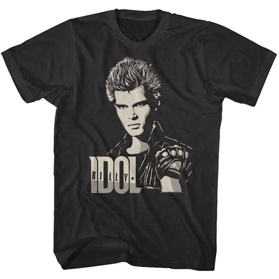 Billy Idol - Two Tone Billy - Black t-shirt