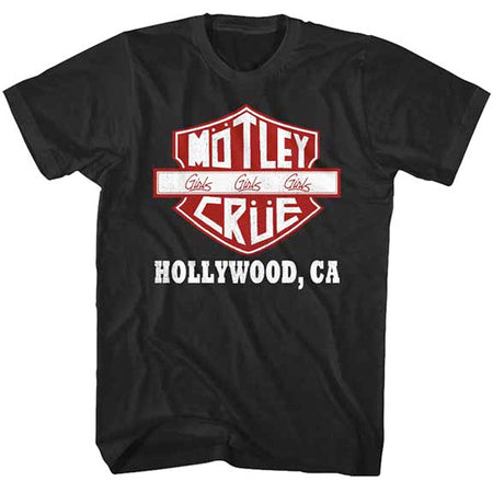 Motley Crue - Crue Sign Hollywood CA - Black t-shirt