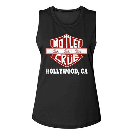 Motley Crue - Crue Sign - Girl's Junior Muscle Tanktop Black t-shirt