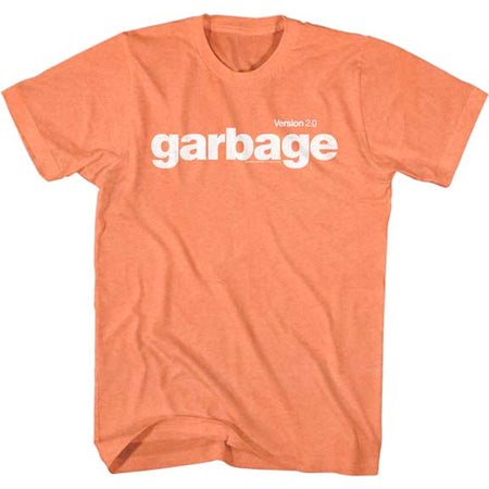 Garbage - Version 2.0 - Bright Orange Heather t-shirt