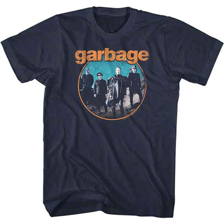 Garbage - Circle - Navy t-shirt