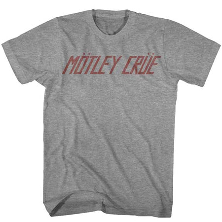 Motley Crue - Logo - Graphite Heather t-shirt