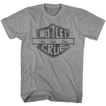 Motley Crue - MC Sign-Girls Girls Girls - Graphite Heather t-shirt