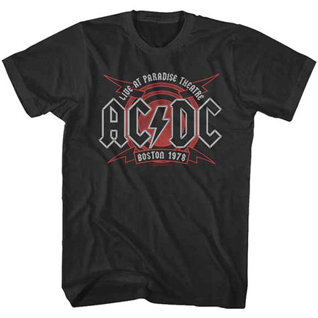 AC/DC - Boston 1978  - Black t-shirt