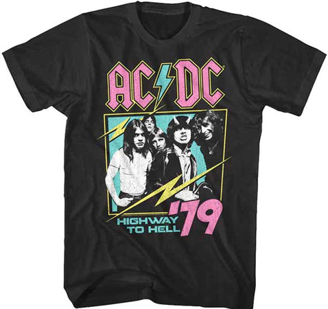 AC/DC - Neon Highway 1979  - Black t-shirt