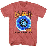 Def Leppard  -Adrenalize 1992 - Red  Heather t-shirt